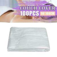 100PCS Disposable Bed Couch Pad Cover Plastic Massage Salon Sheet-BEST SPA U5Q8