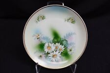 Prince Regent Bavaria Plate W/ White Daisies Hand Painted