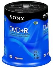 SONY DVD + R 120 MIN 4.6GB 1-16X RW ACCUCORE 100 PACK NEW  READY FOR USE, 👍