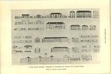 1927 Victoria Hospital Blackpool Remodelling Plans Sections Diagrams
