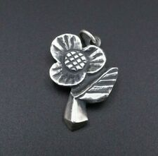 "Rare Retired James Avery Sterling Silver Posy Flower Pendant 1"" CHS959"