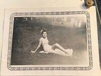 Vintage Lucite Acrylic Photo Frame Bathing Beauty Pretty Girl MCM MID CENTURY