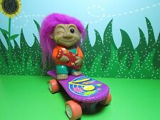 """Rock N' Troll Skateboard Boy - 3 1/2"""" Toys N' Things Troll Doll - New"""