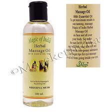Magic Of India Krishna Musk Herbal Massage Essential Oil For Full Body - 100 ml