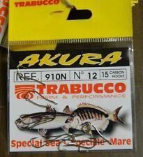 1 Confezione 15 AMI TRABUCCO AKURA serie 910N n 12 pesca BB53