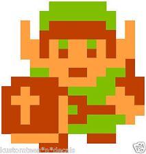 Nintendo NES 8-bit Zelda Link Vinyl Decal Sticker Emblem