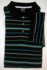 Delf Striped Polo Golf Shirt XXXL 3XL Cotton Blend Rugby Short Sleeve