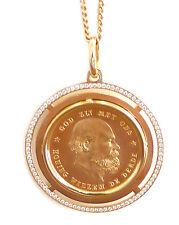 ANHÄNGER GOLDMÜNZE König Willem III.1877 MIT BRILLANTEN