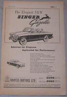 1957 Singer Gazelle Original advert No.1