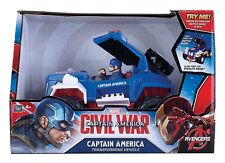 Marvel Avengers Captain America Transforming Battle Vehicle Kids Action Toy