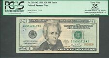 $20 2006=Fw Error=Minneapolis=Over Inking Of The Serial Number=Pcgs Vf 35