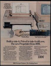 1985 IBM PROPRINTER - Computer - Floppy Disc Software - VINTAGE AD