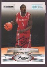 JERMAINE TAYLOR 2009-10 PRESTIGE ROOKIE AUTOGRAPH AUTO RC ROCKETS /999 $15