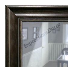 Custom Diego Black Flat Glass Wall Mirror, Mantle & Bathroom Art Decor 80614-967
