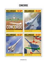 Mozambique Aviation Stamps 2020 MNH Concorde Aircraft 4v M/S