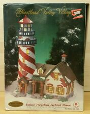 O'WELL Porcelain Christmas Village LIGHTHOUSE Lighted 1999 Heartland Valley Bldg