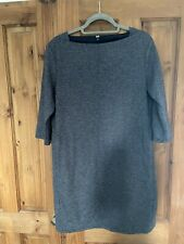 Uniqlo Ladies Grey Black Tunic Dress Size Large (uk 14-16)