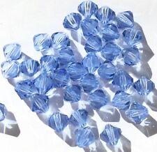 Czech Preciosa Crystal Bicone Azure Blue 36 Loose Beads
