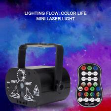 Mini Interface Disco Light Stroboscope Party Voice Effect Laser Projector Lamp
