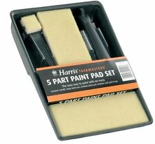 HARRIS TASKMASTERS 5 PART PAINT PADS SET PAINT TRAY FOR EMULTION PAINTING