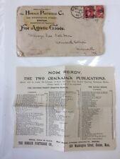1895 Horace Partridge Literature+ Facsimile Letter From Princeton Baseball Team
