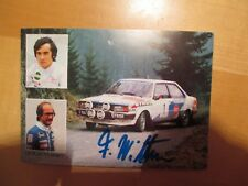 Autogrammkarte F.Wittmann Audi 80 GTE Röhrl
