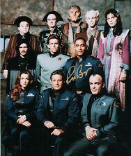 Richard Biggs (1960-2004) Full Cast Photo Babylon 5 8x10 Autographed