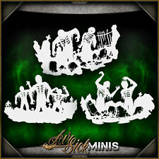Mini Zombie Silhouette Set - Airbrush Stencil Template Airsick Zombies