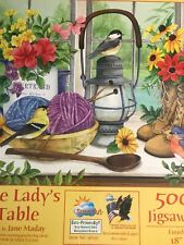 Jane Maday The Lady's Table 500 piece puzzle USA made colorful Sunsout scenic++