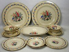 HAVILAND china FOX GLOVE New York 12-piece SET SERVICE for Two (2) + Oval Bowl