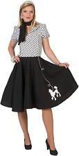 Señoras Vestido Falda Caniche 1950s 50s TV Película Fancy Dress Costume Outfit 10-14