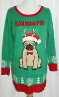 United States Sweaters Bah Hum Pug Cute Ugly Christmas Sweater Womens Medium M