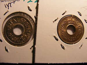 Fiji 1/2 Penny, 1954, Choice Uncirculated, One Year Type