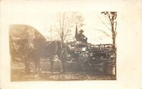 D86/ Occupational RPPC Real Photo Postcard c1910 Horse Delivery Wagon 17