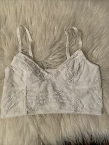 free people intimately small sexy snow white unlined bralette fancy triangle cup