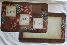 6 Reversible Live Laugh Love Kitchen Tabletop Place Mats Placemats Spice of Life
