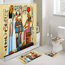 Egyptian Mural Sacrifices Shower Curtain Toilet Cover Rug Bath Mat Contour Rug