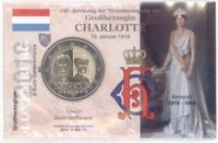 2 Euro Coincard / Infokarte Luxemburg 2019 Großherzogin Charlotte