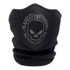 Harley Davidson Skull Neoprene Face Mask Black Large