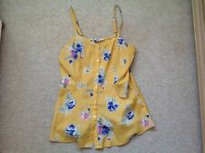 Love Squared Yellow Floral Top - Caroline TVD Vampire Diaries - Size S