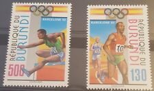 Burundi Série Jeux Olympique de Barcelone  MNH 1012/1013** MNH