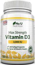 Vitamine D3 3000 IU 1 An Articulations Os Dents Systeme Immunitaire Calcium