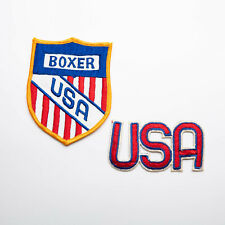 Vintage Boxing Patch Boxer USA Patch