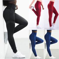 Women Sport YOGA Pants Workout Gym Fitness Leggings Stretchy Trousers Sportswear