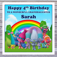 KIDS BIRTHDAY CARDS | TROLLS | PERSONALISED AGE RELATIONSHIP NAME