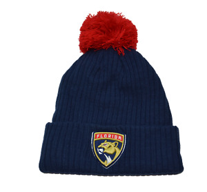 Florida Panthers  NHL Keystone Ribbed Knit Beanie Pom Winter Hat by Fanatics