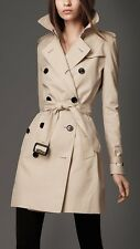 Offer!Luxury The Kensington Burberry Trench Cotton 100% size It 38/40 Uk 6/8