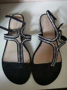 Kurt Geiger Carvela Black Sandals Size 6.5 Worn Once