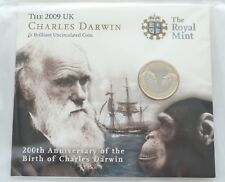 2009 Royal Mint Charles Darwin 200th Anniversary £2 Two Pound Coin Sealed
