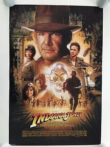 INDIANA JONES,THE KINGDOM OF THE CRYSTAL SKULL, AUTHENTIC 2008 POSTER